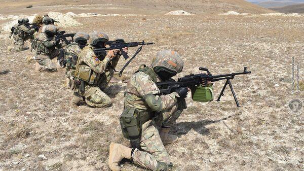 Военнослужащие специальных подразделений ВС провели наступательные операции на северо-восточной границе Армении - Sputnik Армения