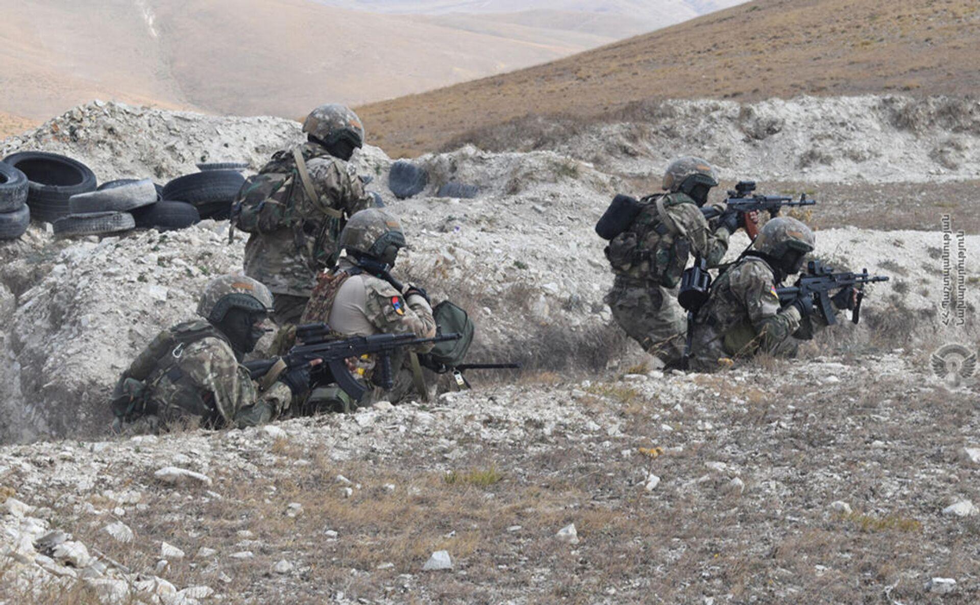 Военнослужащие специальных подразделений ВС провели наступательные операции на северо-восточной границе Армении - Sputnik Արմենիա, 1920, 23.09.2021