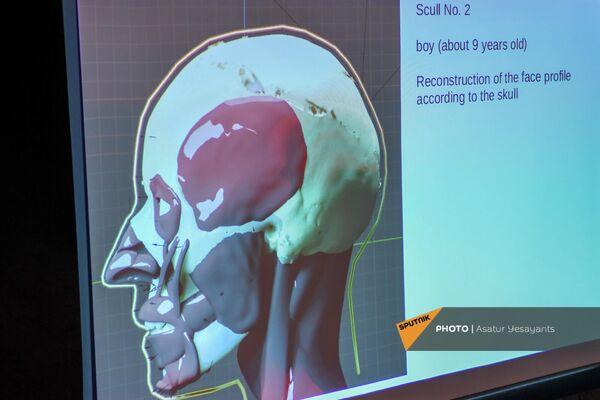 Антропологическая реконструкция по черепу, обнаруженному в пещере Арени-1 - Sputnik Армения