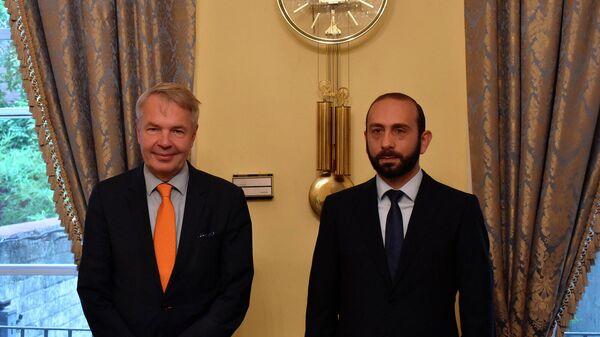 Встреча министров иностранных дел Армении и Финляндии - Арарата Мирзояна и Пекка Хаависто (23 сентября 2021). Нью-Йорк - Sputnik Армения