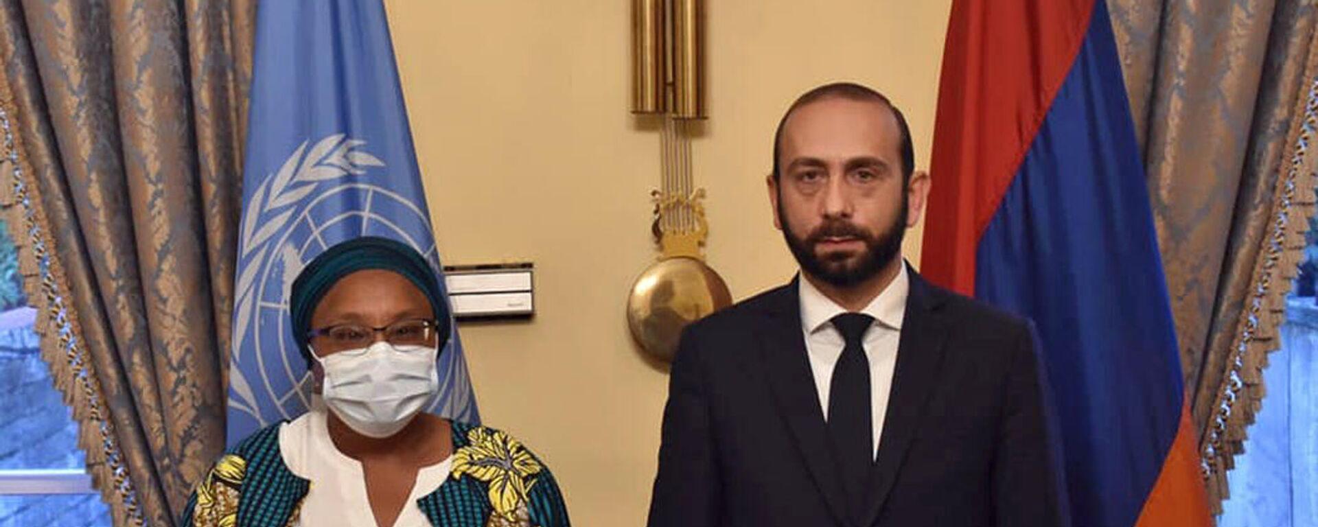 Արարատ Միրզոյանը հանդիպել է ՄԱԿ գլխավոր քարտուղարի հատուկ խորհրդականին - Sputnik Արմենիա, 1920, 25.09.2021