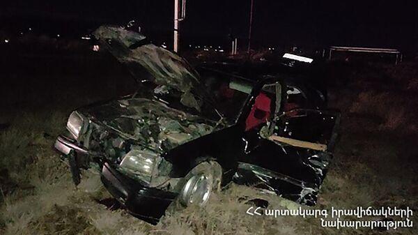 Дорожно-транспортное происшествие недалеко от Егварда - Sputnik Արմենիա