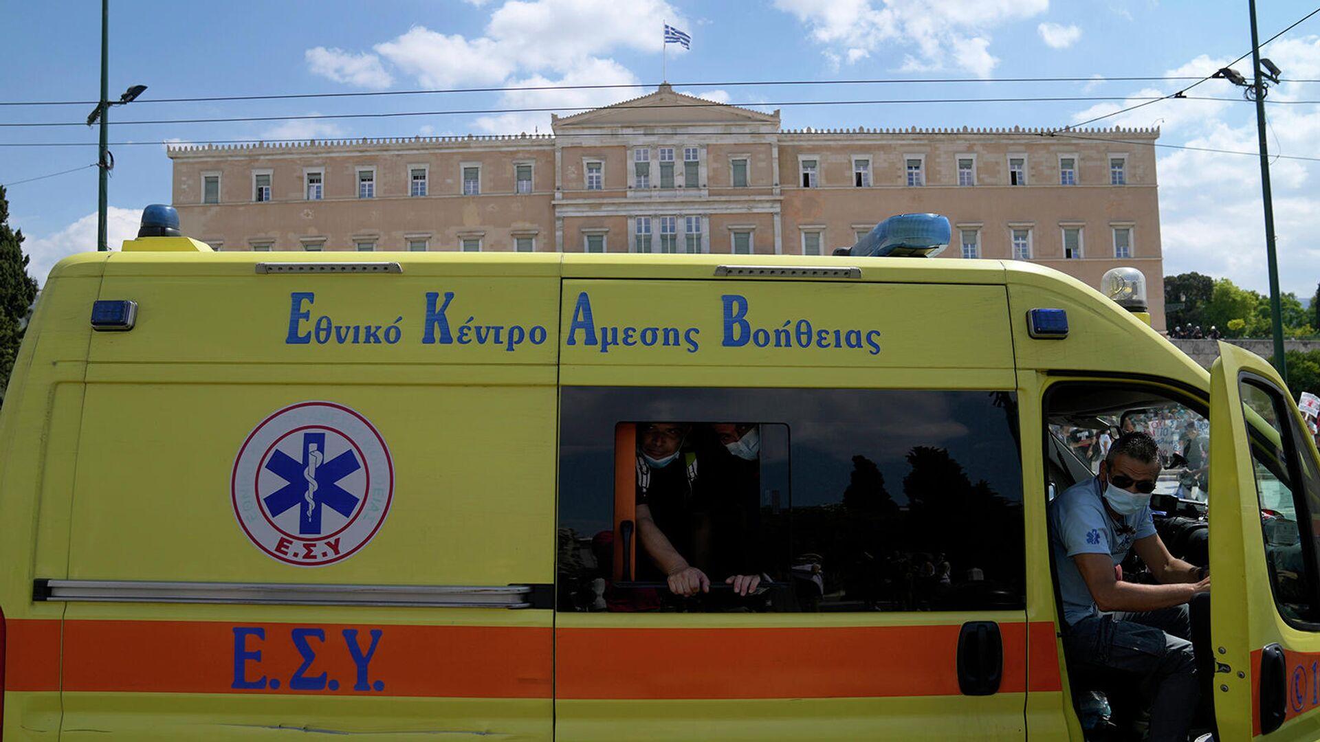 Машина скорой помощи в Греции - Sputnik Армения, 1920, 27.09.2021