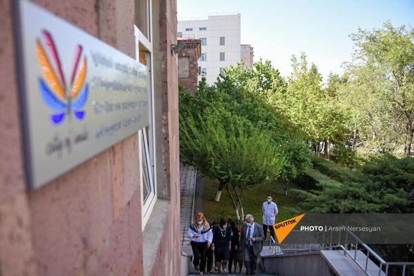 Открытие Клиники паллиативного ухода  Гематологического центра им. Р. Йоляна (28 сентября 2021). Еревaн - Sputnik Армения