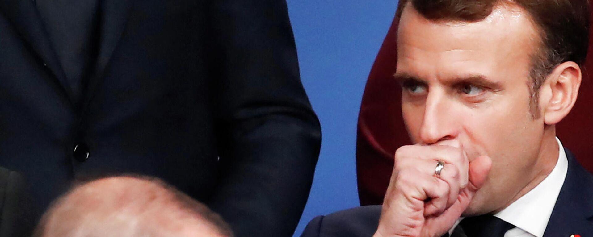 Президенты Турции и Франции Реджеп Тайип Эрдоган и Эммануэль Макрон на саммите НАТО в отеле Grove в Уотфорде (4 декабря 2019). Англия - Sputnik Армения, 1920, 28.09.2021