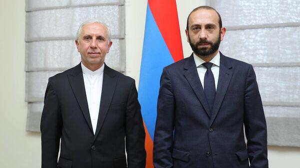 ՀՀ ԱԳ նախարար Արարատ Միրզոյանն  ընդունել է Հայաստանում Իրանի դեսպան Աբբաս Բադախշան Զոհուրին - Sputnik Արմենիա