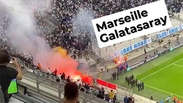 Потасовка между болельщиками во время футбольного матча Марсель - Галатасарай - Sputnik Армения