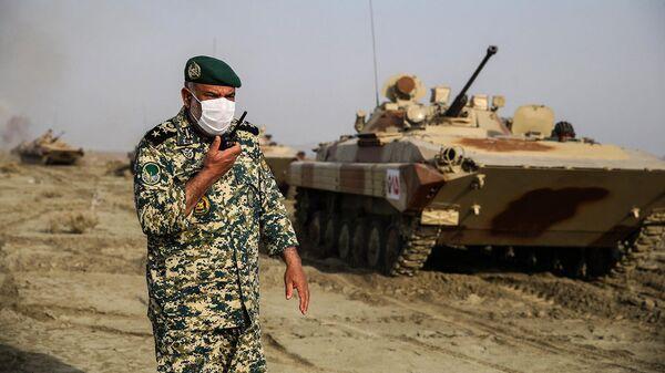 Сухопутные войска армии Ирана, принимающие участие в военных учениях на юго-востоке Ирана - Sputnik Արմենիա