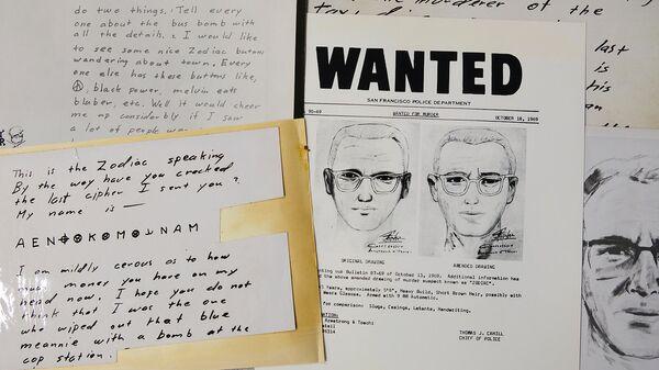 Фоторобот и письма серийного убийцы по прозвищу Зодиак - Sputnik Армения