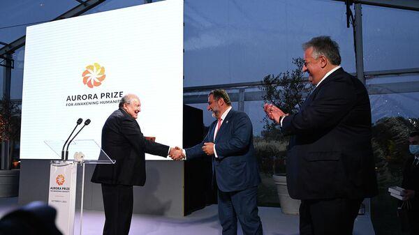 Արմեն Սարգսյանը մասնակցել է «Ավրորա» մրցանակաբաշխությանը - Sputnik Արմենիա