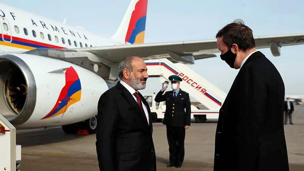 Премьер-министр Никол Пашинян с рабочим визитом прибыл в Москву - Sputnik Армения