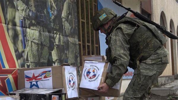 Российские миротворцы провели гуманитарную акцию для многодетных семей в Нагорном Карабахе - Sputnik Армения