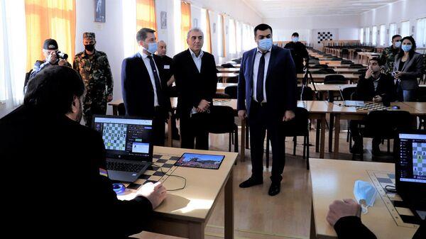 Первый чемпионат мира по онлайн-шахматам среди заключенных, на котором Армению представляют четыре осужденных: Роберт Саргсян, Нарек Овакимян, Игит Григорян и Армен Гороян (13 октября 2021). Еревaн - Sputnik Արմենիա
