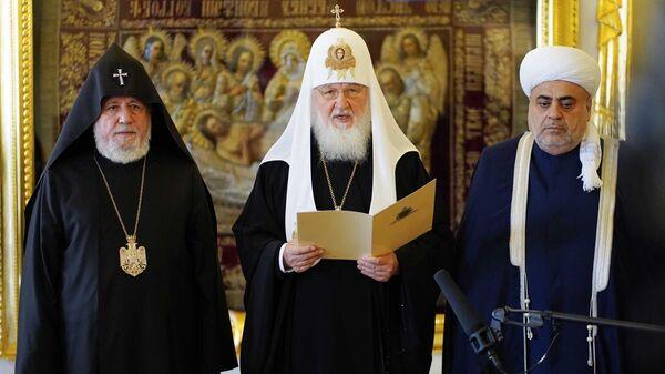 Հայաստանի, Ռուսաստանի, Ադրբեջանի հոգևոր առաջնորդների հանդիպումը - Sputnik Արմենիա
