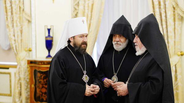 Встреча духовных лидеров России, Армении и Азербайджана в Москве - Sputnik Армения