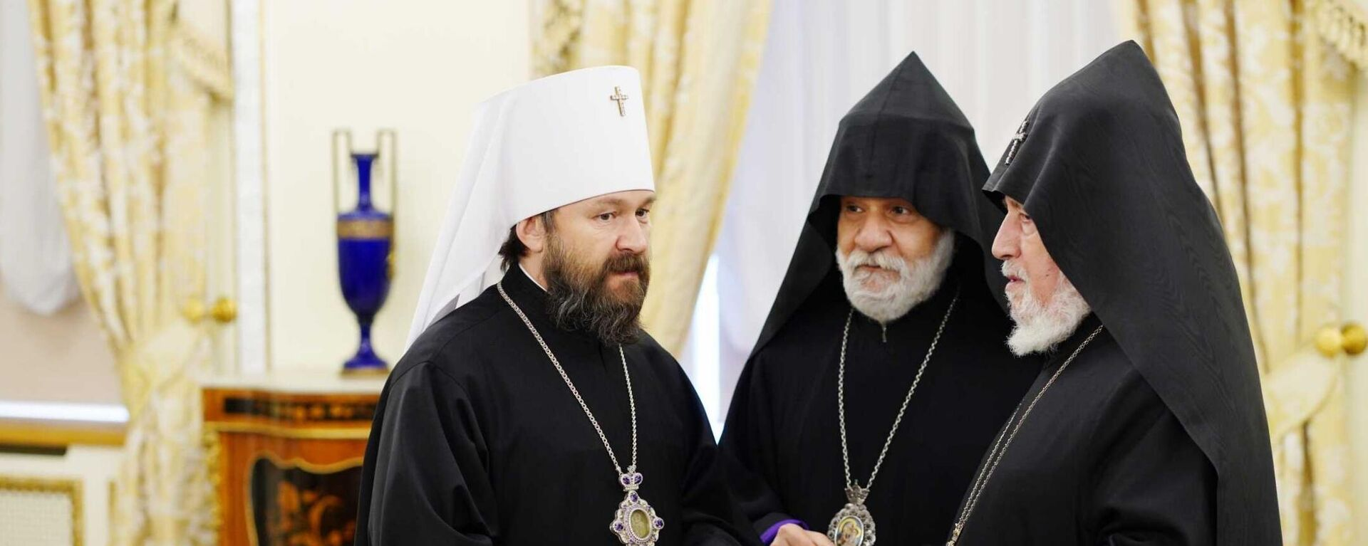 Встреча духовных лидеров России, Армении и Азербайджана в Москве - Sputnik Армения, 1920, 13.10.2021