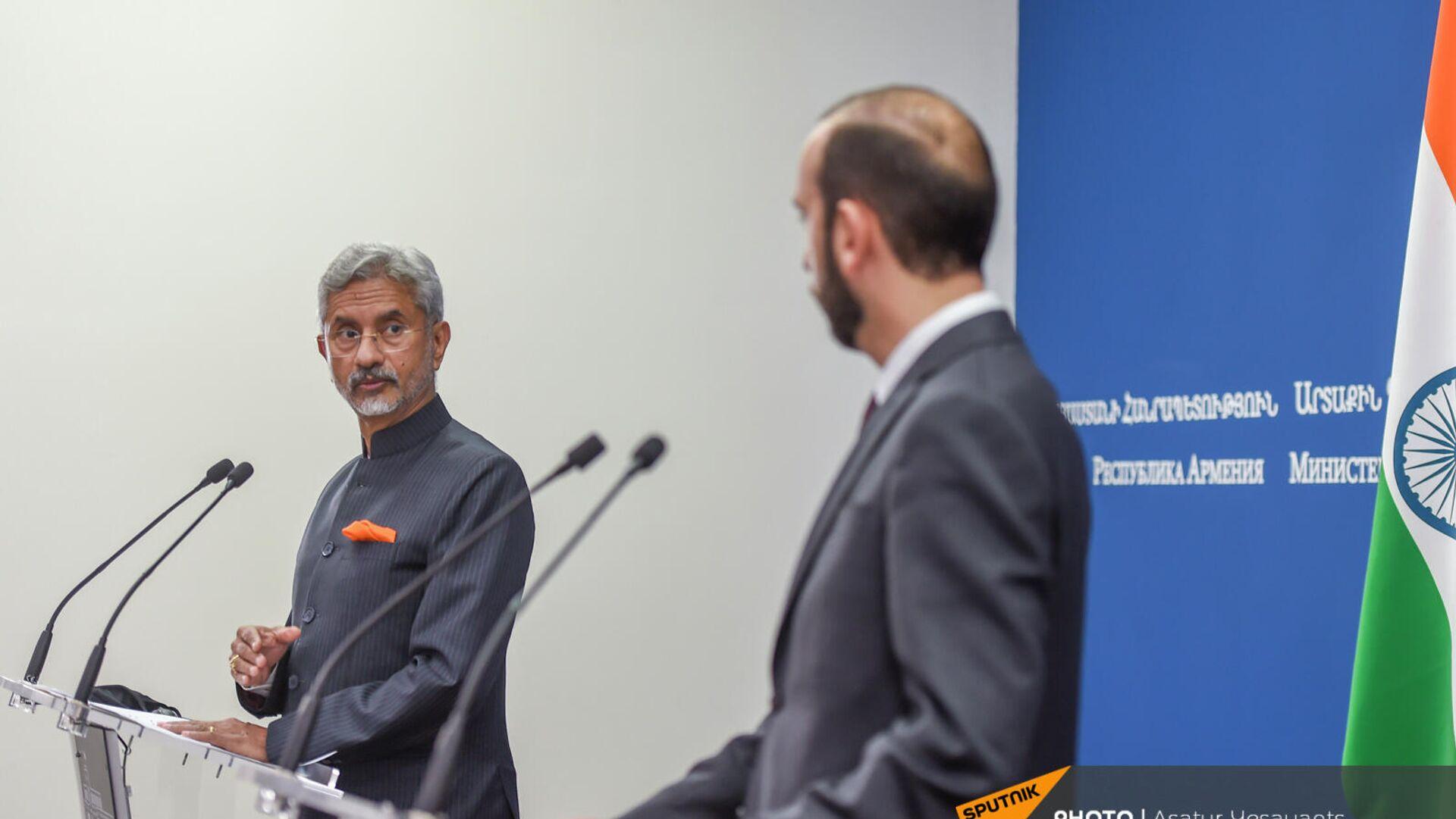 Հայաստանի և Հնդկաստանի ԱԳ նախարարների հանդիպումը - Sputnik Արմենիա, 1920, 15.10.2021