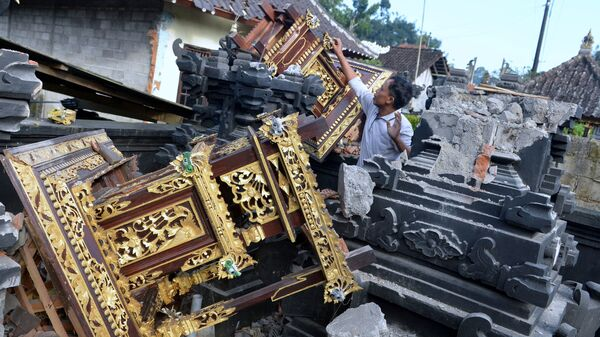 Последствия землетрясения на острове Бали, Индонезия - Sputnik Արմենիա