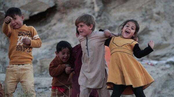 Дети играют возле своего дома в Кабуле - Sputnik Армения