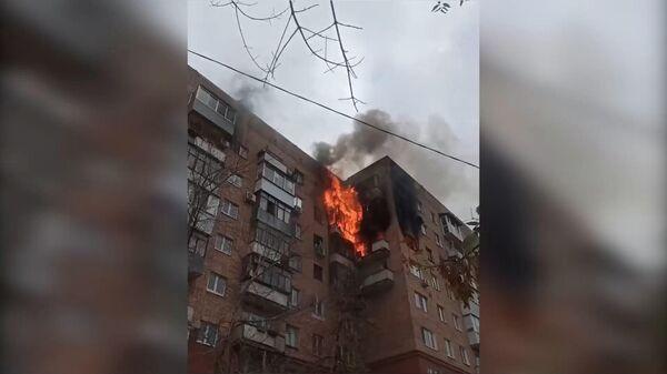 Пожар в девятиэтажном доме в Самаре - Sputnik Армения