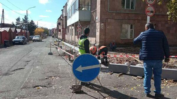 Работы по благоустройству в городе Джермук - Sputnik Армения