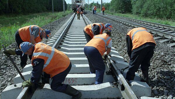 Летние путевые работы на Московской железной дороге - Sputnik Արմենիա