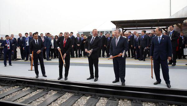 Открытие железной дороги Баку – Тбилиси – Карс - Sputnik Армения