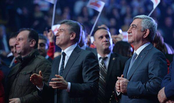 Президент Премьер-Министр и Министр Обороны Армении - Sputnik Армения