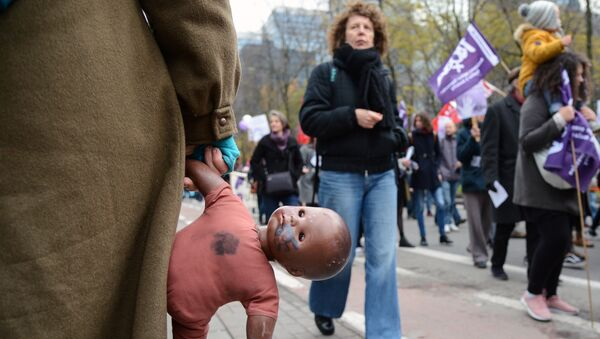 Акция против насилия в отношении женщин в Европе - Sputnik Արմենիա