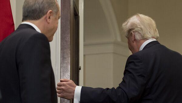 Президенты США и Турции Дональд Трамп и Реджеп Эрдоган (16 мая 2017). Вашингтон, США - Sputnik Армения