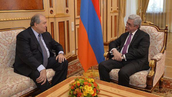 Серж Саргсян и Армен Саркисян - Sputnik Армения