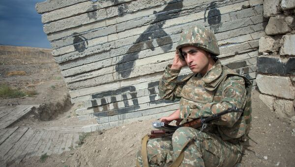 Военнослужащий армии Нагорно-Карабахской Республики. - Sputnik Армения
