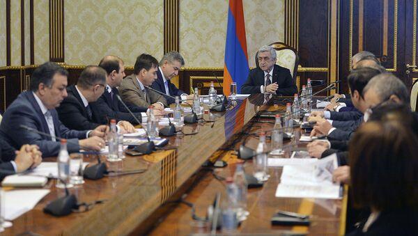 Совещание у президента по подготовке к трем купным мероприятиям в 2018 г. - Sputnik Արմենիա
