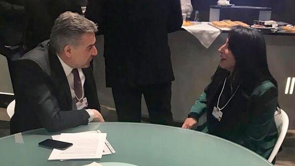 Встреча Карена Карапетяна с Бодрум аль-Касими в Давосе - Sputnik Արմենիա