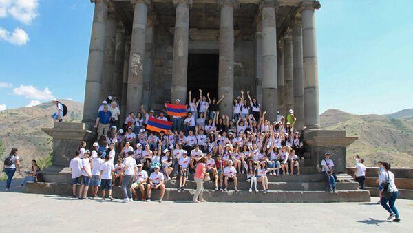 Участники программы Ари тун в Гарни - Sputnik Արմենիա