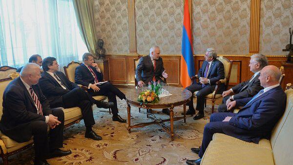 Президент Армении Серж Саргсян принял сопредседателей Минской группы ОБСЕ - Sputnik Армения