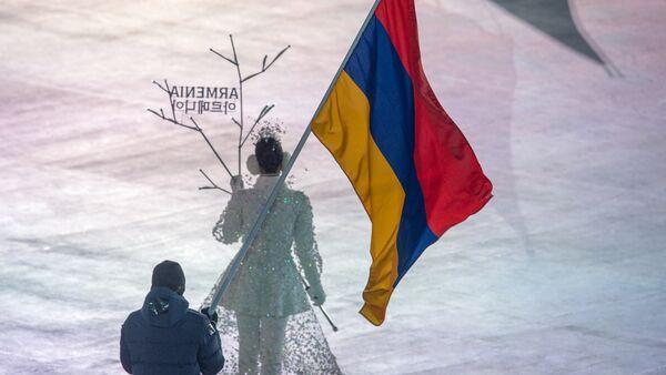 Выход команды Армении на XXIII Зимних играх (9 февраля 2018). Пхенчхан, Южная Корея - Sputnik Армения