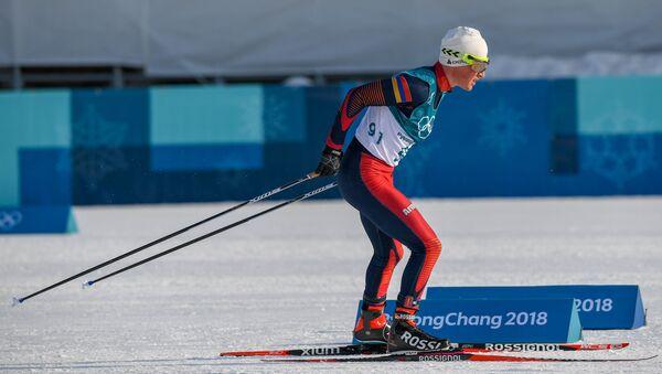 Лыжник Олимпийской Сборной Армении Микаел Микаелян (16 февраля 2018). Пхенчхан, Южная Корея - Sputnik Армения
