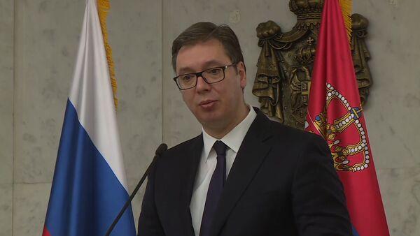 Президент Сербии Александр Вучич о письме родственникам погибшего в Сирии Романа Филипова - Sputnik Армения