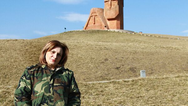 Военнослужащая Анаит Мартиросян - Sputnik Արմենիա