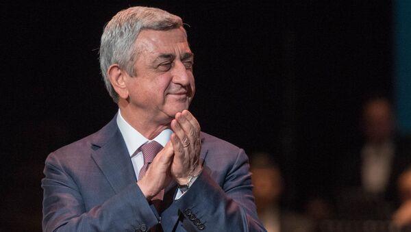 Президент Армении Серж Саргсян на премии Айкян-2017 (28 февраля 2018). Ереван, Армения - Sputnik Արմենիա