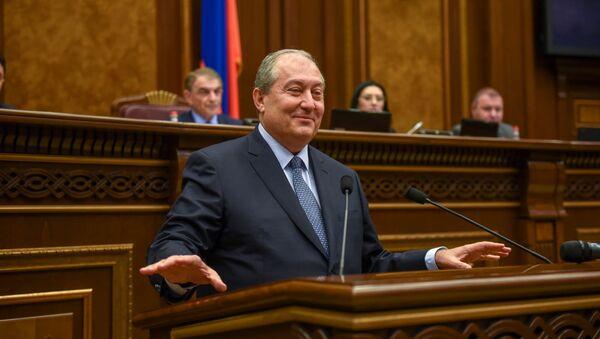 Новоизбранный президент Армении Армен Саркисян  - Sputnik Армения