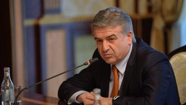 Премьер-министр Армении Карен Карапетян на заседании Совета безопасности (1 марта 2018). Ереван, Армения - Sputnik Արմենիա