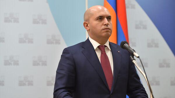 Пресс-конференция Константина Косачева и Армена Ашотяна (13 марта 2018). Ереван - Sputnik Армения