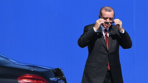 Президент Турции Реджеп Тайип Эрдоган - Sputnik Армения