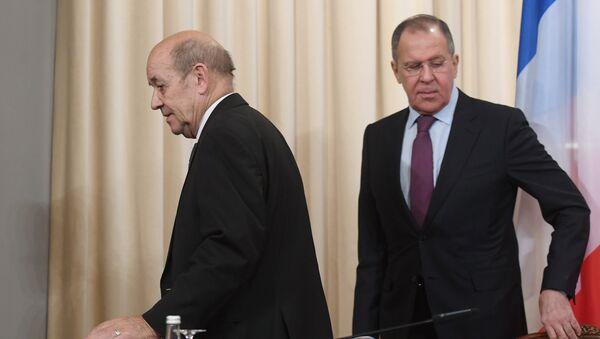 Встреча глав МИД РФ и Франции Сергея Лаврова и Жан-Ив Ле Дриана - Sputnik Армения