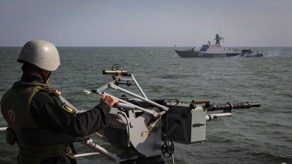 Учения корабельных сил Каспийской флотилии РФ - Sputnik Армения