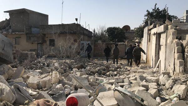 Последствия артобстрелов Африна в Сирии - Sputnik Արմենիա