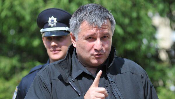 Министр внутренних дел Украины А.Аваков посетил центр подготовки патрульных полицейских во Львове - Sputnik Армения