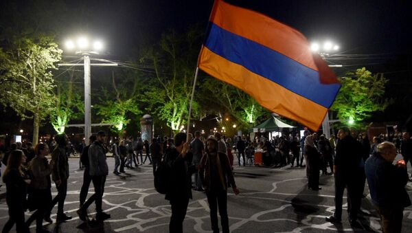 Акция протеста на пл. Франции в Ереване - Sputnik Армения